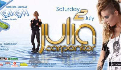 Saturday 02 July @ edem club: Julia Carpenter