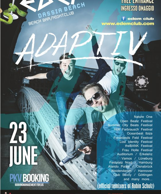 Friday 23-06-2017 Edem Club – ADAPTIVE
