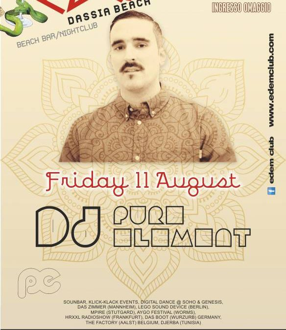Edem Beach Club presents DJ PURE ELEMENT | Friday 11 August