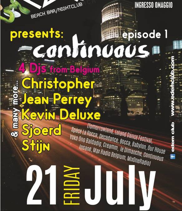Edem Club presents Continuous Episode 1 | Friday 21 July